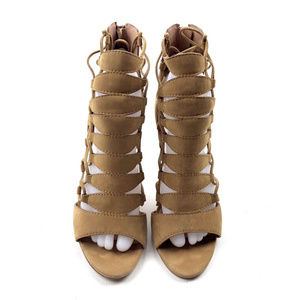 "Sigerson Morrison Shoes - Sigerson Morrison Vero Cuoio Strappy 4"" Heel Tan"